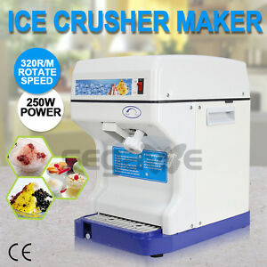 Used Commercial Ice Shaver Crusher Shaving Process Snow Cone Maker Machine Devic