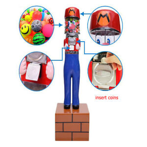 Mario Capsule Toys Candy One Dollar Coin Bulk Vending Machine