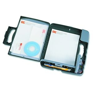 Officemate Portable Clipboard Storage Case Charcoal 83301