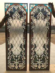 Beautiful Hand Made Stained Glass Door Panels Sgp1
