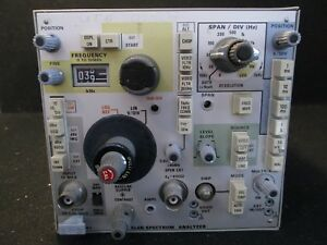 Tektronix 5l4n Spectrum Analyzer Plug in