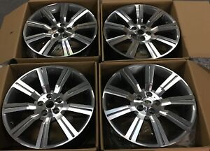22 Range Rover Autobiography Oem 7 Spoke Wheels Glossy Black 2014 18 Model Set 4