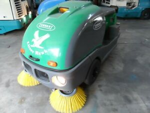Tennant Litter Hawk Vac Sweeper 330 Hrs Runs Great As Is Need Room In Shop