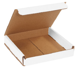 Pick Quantity 1 500 6x6x1 White Corrugated Mailer Small Folding Box Light Ship