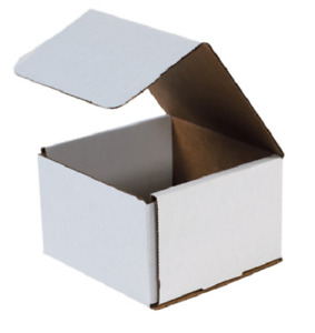 Pick Quantity 1 500 6x6x4 White Corrugated Mailer Small Folding Box Light Ship