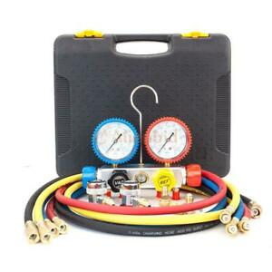 A c Manifold Gauge Air Conditioner Refrigerant Maintenance R410 R22 R134 R407