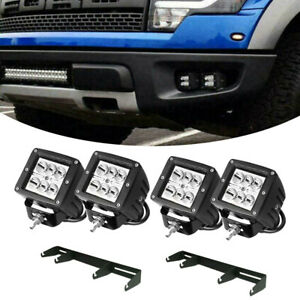 3 Led Cube Fog Lights Location Mount Bracket For 2007 2015 Jeep Wrangler Jk