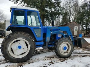 1988 Ford 6710 4x4 W loader Dual Remotes 540 1000 Pto 4000 Hours Heat Radio