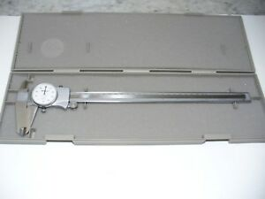 Mitutoyo 505 746 Dial Caliper 0 12 Range X 0 001 Accuracy Stainless Steel