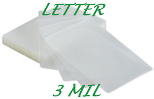 100 Letter Size Laminating Pouches Sheets 3 Mil 9 X 11 1 2 Quality
