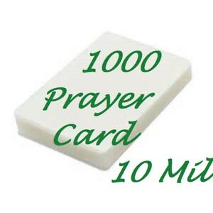 1000 Prayer Card Laminating Pouches Sheets 10 Mil 2 3 4 X 4 1 2 Scotch Quality