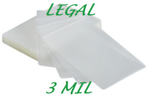 500 Legal Laminating Laminator Pouches Sheets 9 X 14 1 2 3 Mil Quality