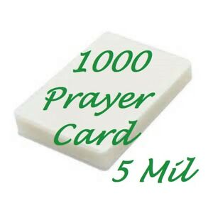 1000 Prayer Card Laminating Laminator Pouches Sheet 5 Mil 2 3 4 X 4 1 2 Scotch Q