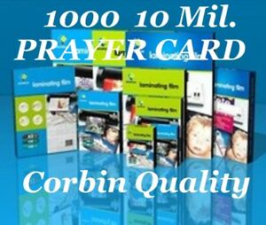 Prayer Card Laminating Pouches Sheets 1000 10 Mil 2 3 4 X 4 1 2 Ultra Clear Cq