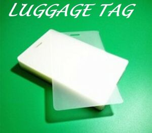 500 Luggage Tags Laminating Pouches Sheets W slot 2 1 2 X 4 1 4 10 Mil Quality