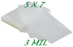 5 X 7 Laminating Laminator Pouches Sheets 5 1 4 X 7 1 4 100 3 Mil Quality