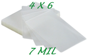 4 X 6 Laminating Laminator Pouches Sheets 4 25 X 6 25 500 7 Mil Quality