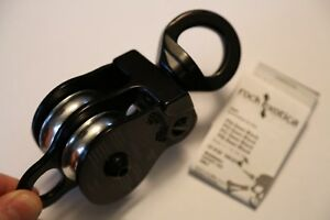 Black Rock Exotica 1 5 Pulley Twin Sheave Double Block For 1 2 Inch Rope