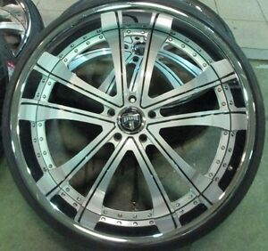 30 Used Dub Technics 2 piece Wheels With Tires Toyota Tundra And Sequoia 5x150