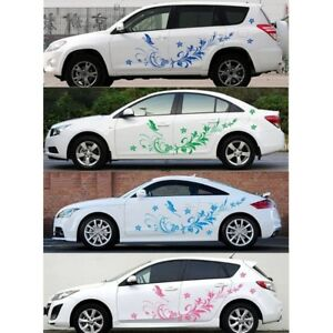 Auto Modifield Decal Vinyl Natural Waterproof Stickers Flower For Car Whole Body