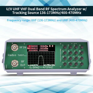 Uhf Vhf Dual Band Rf Spectrum Analyzer W Tracking Source 136 173mhz 400 470mhz