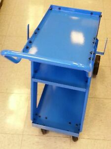 Welder Cart For Mig Tig Or Plasma Units New 3 Shelf Blue
