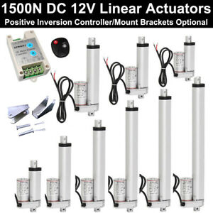 Heavy Duty 1500n Linear Actuator 330lbs Max Lift 12v Electric Motor For Auto Car