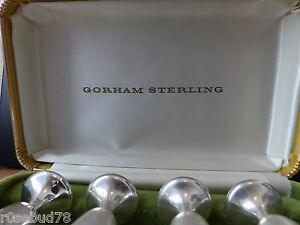Vintage Gorham Sterling Silver Goblets In Original Box Excellent Used Condition