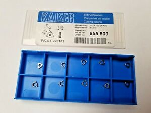 Kaiser Wcgt 020102 Iso K10c Lathe Carbide 10 Inserts Mill New Tools
