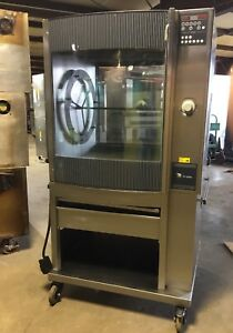 Fri jado Stg7 p Single Electric Rotisserie Chicken Meat Baking Pass thru Oven 5