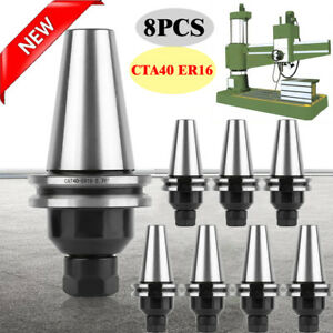 Cat40 er16 Collet Chuck 8 Chucks set Us Free Shipping Tool Holder Set New Hp
