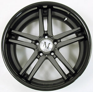 Mandrus Simplex 18 X 9 5 Black B2 Rims Wheels For Kia Cadenza Rio 5x114 3 39