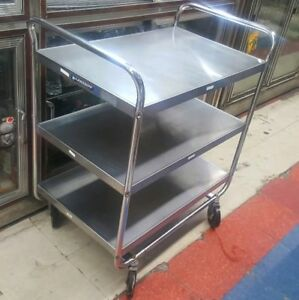 Lakeside 493 Stainless Steel W Chrome Plated Legs Cart Food Restaurant Hotels