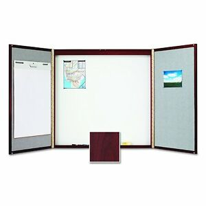 Quartet Conference Room Cabinet With Porcelain Writing Surface 4 X 4 Feet 878