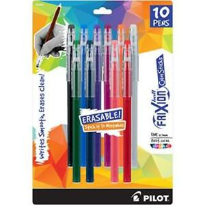 Pack Of Pilot Frixion Color Sticks Erasable Gel Pens 10 assorted Colors 32454