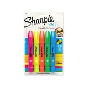 Count 5 Sanford Brands 1803277 Sharpie Accent Gel Highlighter Assorted Colors Ne