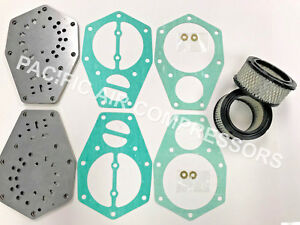 Speedaire Tf022200av 3z493 Valve Plate Gasket Kit 10hp Compressor With Filter