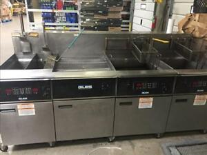 Giles 3 Bay Electric Deep Commercial Deep Fryer W dump Station Eof 10 10 Combo 1