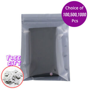 5x7in Translucent Anti static Zip Lock Pouch Bag W silica Gel Desiccant B08