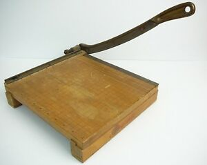 Vintage Ingento 10 Guillotine Paper Cutter Ideal School Supply Company