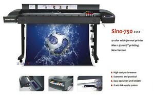 High Quality 60 Large Wide Format Printer Sino 750 rip usb for Indoor