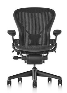 Herman Miller Aeron Chair Size B Fully Loaded Posture Fit Nwt No Box