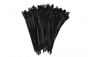100 2000 Mounting Hole Zip Ties Nylon Nail Screw Wire Cable Black 4 15