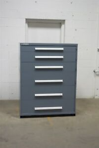 Used Vidmar 6 Drawer Cabinet Industrial Toolbox Storage 45 Wide 1275