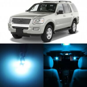 13 X Ice Blue Interior Led Lights Package For 2006 2010 Ford Explorer Tool