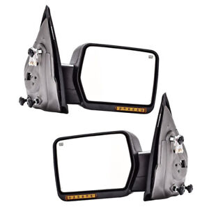 New Pair Of Left Right Power Mirror W Amber Turn Signal For Ford F150 04 06