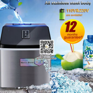 25kg Ice Machine stainless Steel Manual Adding Water Square Ice Maker Machine