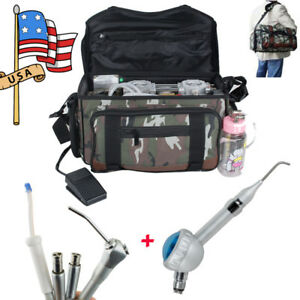 Portable Dental Turbine Unit Bag Compressor Suction System Syringe Air Polisher