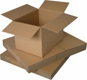 Single Wall Plain Brown Corrugated Cardboard Postal Mailing Boxes All Sizes