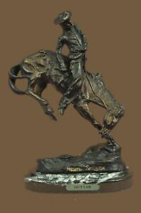 Bronze Sculpture Statue Frederic Remington S Handmade The Outlaw Marble Mb